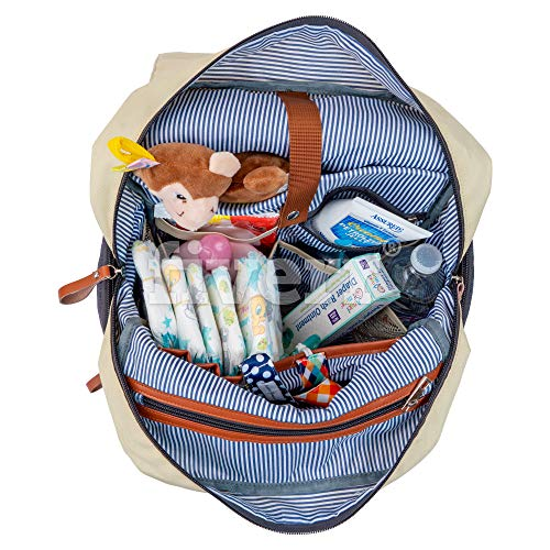 Lily Mae Diaper Backpack for Mom and Dad - Stylish Waterproof Bag with Baby Changing Pad, Bottle Sleeve, Stroller Straps, Laptop Pocket - Versatile Baby Bag Backpack