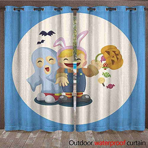 RenteriaDecor Outdoor Ultraviolet Protective Curtains Halloween Party Costume