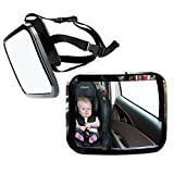 Zone Tech Car Baby Rear View Mirror - Premium Quality Large Adjustable Infant Child Mirror for Safety and Security