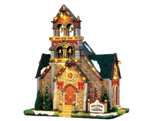 (Lemax Village Collection Hillside Bell Chapel with Adaptor # 45729)