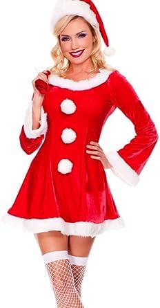 Baymate Mujeres Disfraz De Adultos Navidad Manga Larga Princesa ...