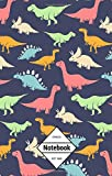 "GM&Co: Notebook Journal Dot-Grid, Lined, Graph, 120 pages 5.5""x8.5"": Smooth Cartoon T-REX Jurassic Dinosaur Blue (Dinosaur Collection) (Volume 1)"