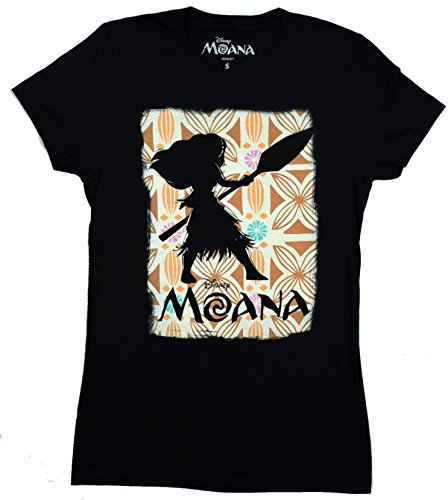 Disney Moana Silhouette Juniors T-shirt ( Black)