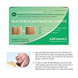 """Aroamas, Silicone Scar Removal Sheets - for Keloid, C-Section, Hypertrophic, Surgical Scars and More Reusable and Washable 3""""×1.57"""", 4 Sheets"""