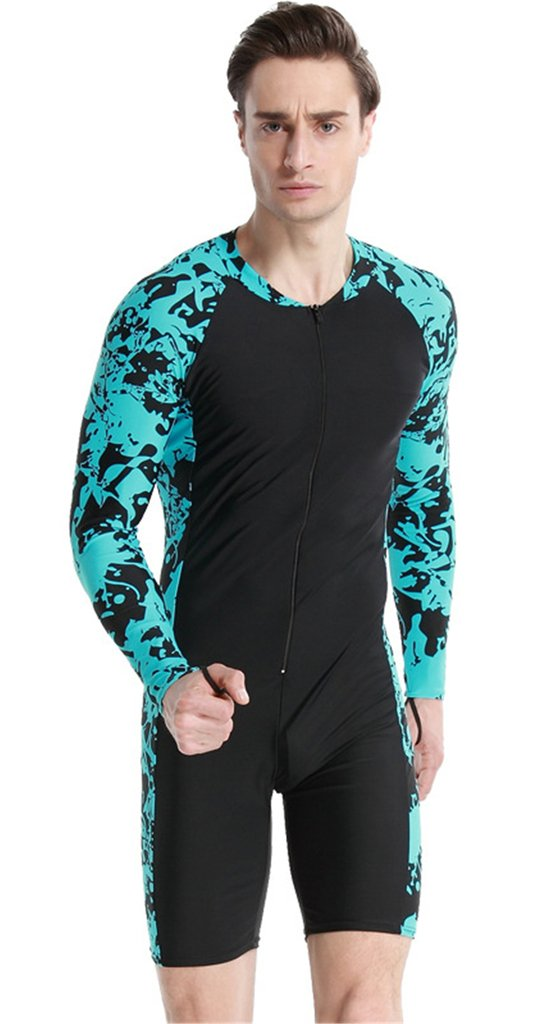 Fortuning's JDS® Newest long sleeve swimwear UPF 50+ swimming suit for men