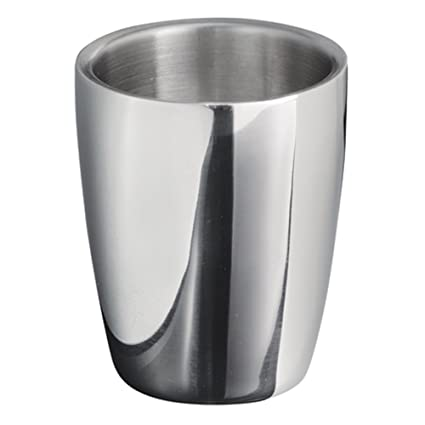 InterDesign Forma Tumbler Cup for Bathroom Vanity Countertops - Polished Stainless Steel