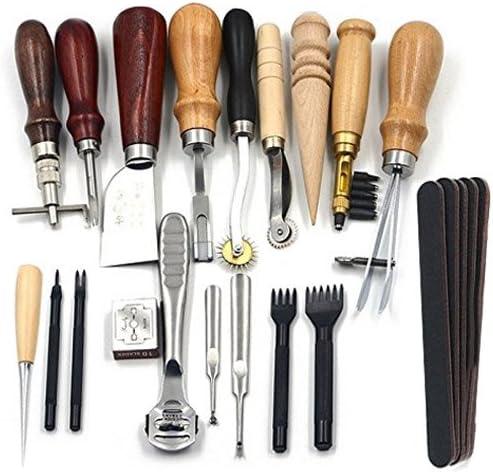 18 piezas Juego de cuero hilo costura, agujas herramientas para ...