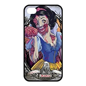 5c Case, iphone 5c Case - Fashion Style New Zombie Princess Painted Pattern TPU Soft Cover Case for iphone 5c (Black/white)