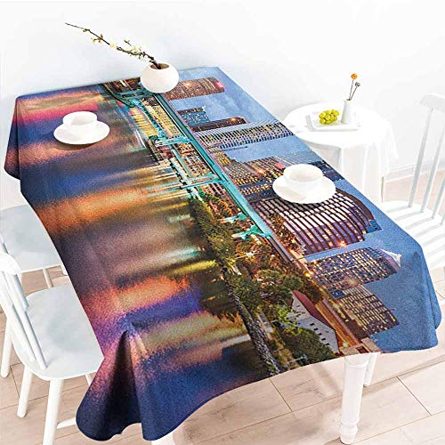 familytaste City,Party Table Cover Hillsborough River Tampa Florida USA Downtown Idyllic Evening at Business District 50