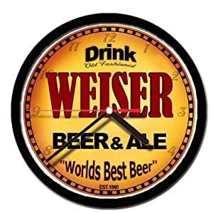 Weiser Beer and Ale cerveza reloj de pared