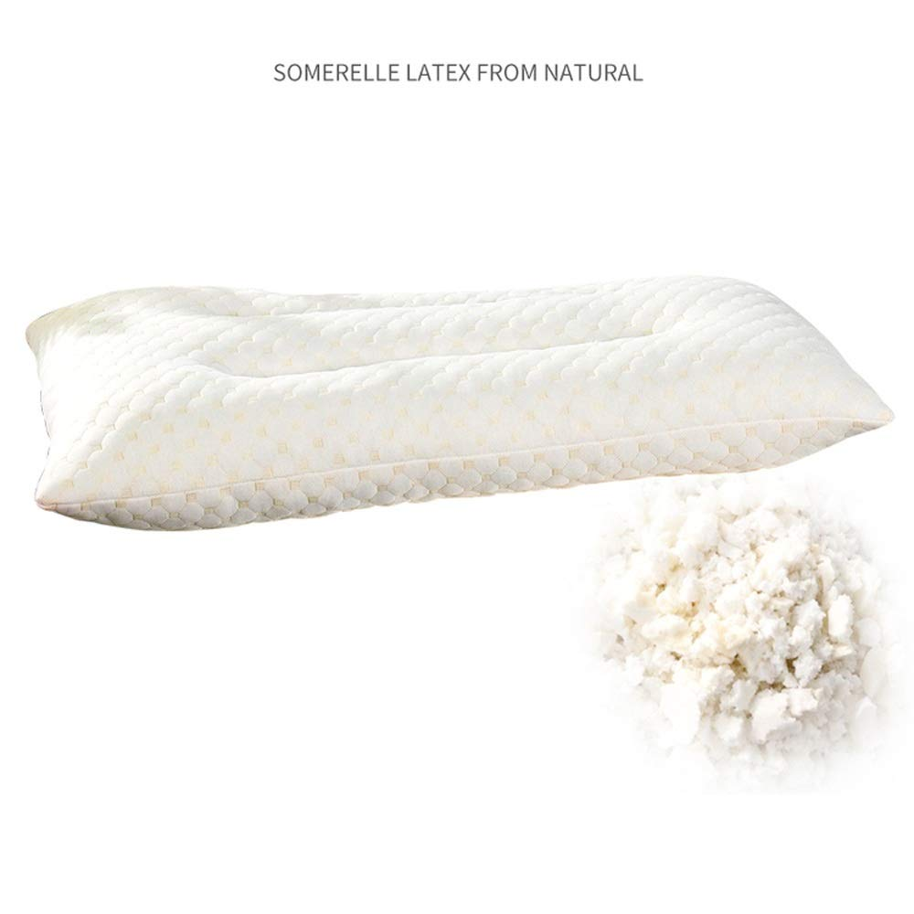 WTGG-Home Textile Latex Pillow Single-Set Pillow Pillow Student Dormitory Neck Single Pillow Single Knitted Latex Pillow /& by WYGG (Image #2)
