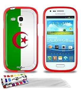 """Carcasa Flexible Ultra-Slim SAMSUNG GALAXY S3 MINI ( I8190 ) de exclusivo motivo [Bandera Argelia] [Roja] de MUZZANO  + 3 Pelliculas de Pantalla """"UltraClear"""" + ESTILETE y PAÑO MUZZANO REGALADOS - La Protección Antigolpes ULTIMA, ELEGANTE Y DURADERA para su SAMSUNG GALAXY S3 MINI ( I8190 )"""