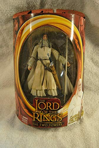 Geek Out Books Lord of The Rings LOTR The Two Towers Gandalf The White Figure 2002 Toybiz