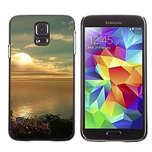 Caucho caso de Shell duro de la cubierta de accesorios de protección BY RAYDREAMMM - Samsung Galaxy S5 SM-G900 - Sunset Beautiful Nature 80