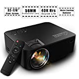Projector, GooBang Doo T20 Portable Mini Home Theater Video Projector 1080P 1500 Lumens 800*480 Resolution for TV Laptop SD Android TV Box Support HDMI USB SD AV VGA TV Interface