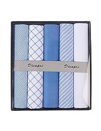 DiCapri Men's 5 Pack Assorted Handkerchiefs (Assorted 6)