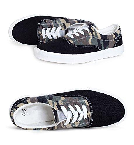 scarpe camuffamento nere uomo per aiutare marea WFL da l'estate basse scarpe nero da casual scarpe uomo Scarpe 7wqqv0U