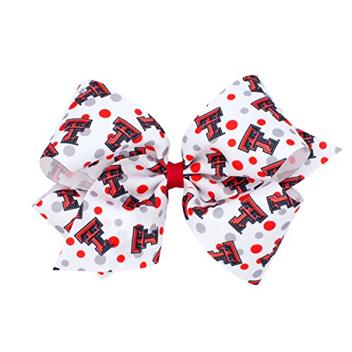 Wee Ones King Size NCAA Collegiate Print Bow, Texas Tech (Bow Tech Shirt)