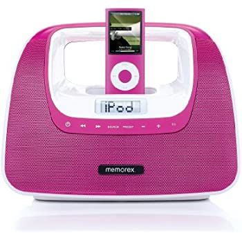 sync iphone and ipad memorex mini move with ipod dock pink home 8287