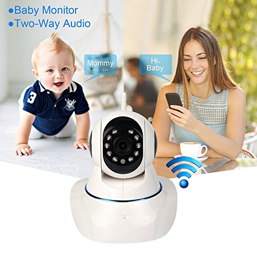 Peekaboo Baby HD IP WiFi 960P Video Baby Monitor Mountable ( Night Vision - Plug & Play - 2-Way Audio - Motion Detect - Alarm - Cellphone compatible - Intercom) (Panoramic Vision Inc compare prices)