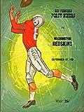 San Francisco 49ers vs Washington Redskins Football Program (September 17, 1961) ** Kezar Stadium San Francisco**