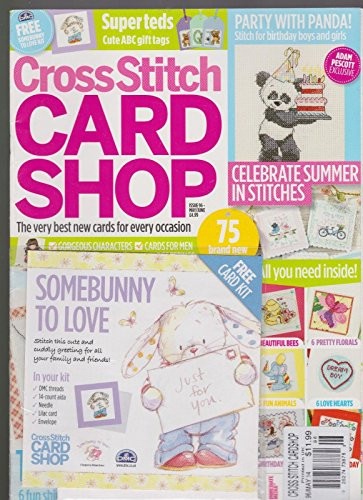 CROSS STITCH CARD SHOP UK MAGAZINE FREE CARD KIT ISSUE 96 MAY/ JUNE - Usps Rate International Flat