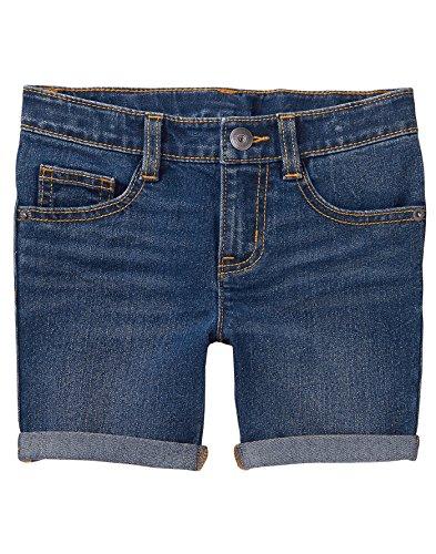 Crazy 8 Little Girls' Bermuda Short, Medium Wash Denim, 5 (Bermuda Denim Wash Short)