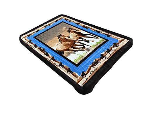 """All American Collection New Super Soft Animal Printed Throw Blanket Anna (50""""x60"""", Horse)"""
