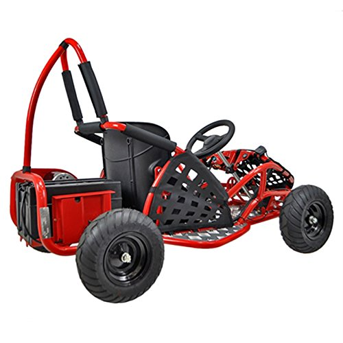 Go-Bowen-Baja-1000W-48V-Electric-Kids-Go-Kart-Red
