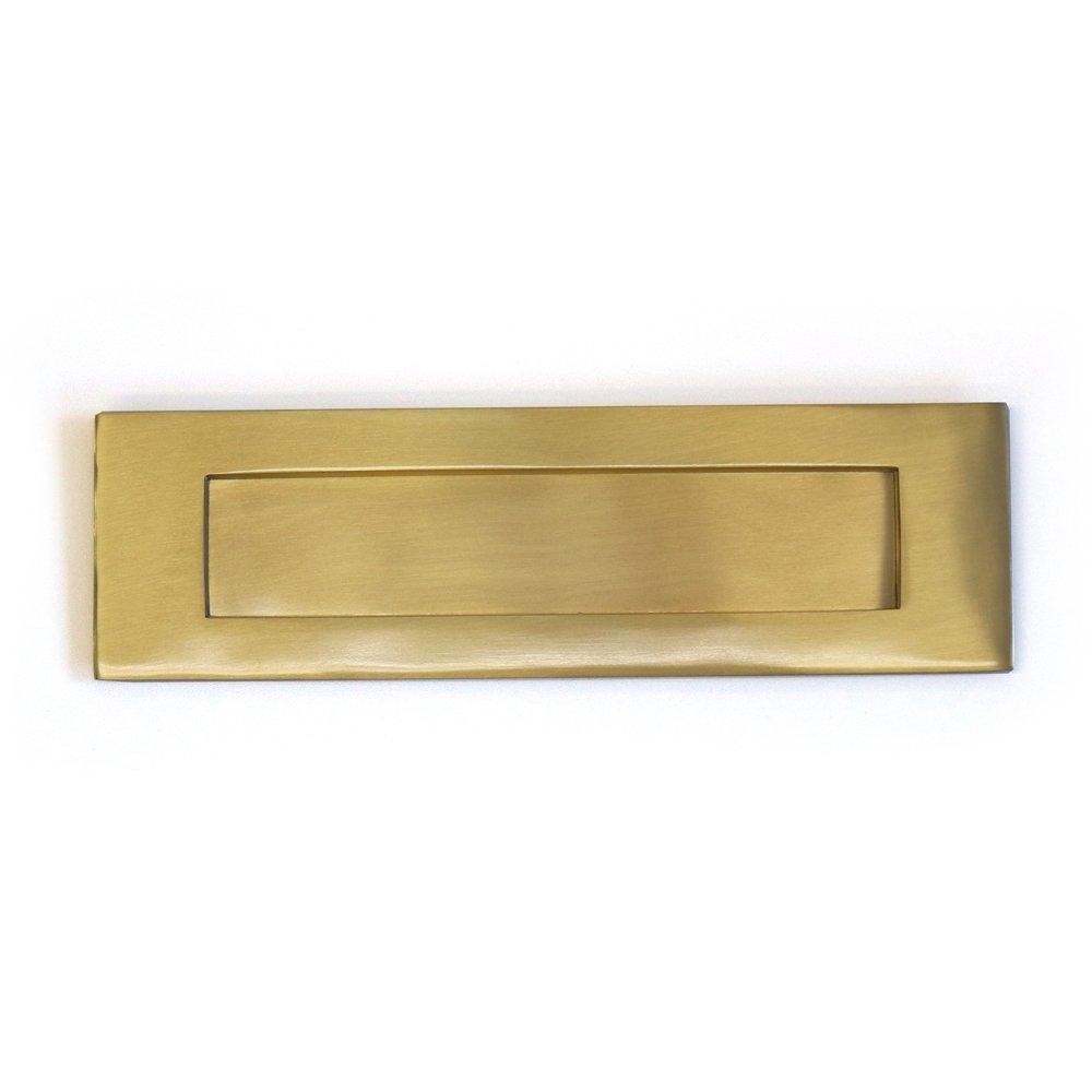 Pushka Bouton Home moderne laiton doré à ressort lettres. Laiton massif lourd de haute qualité à ressorts Boîte aux lettres postale plaque Coque plaque de lettre avec finition or. avec revêtement de laque de protecti