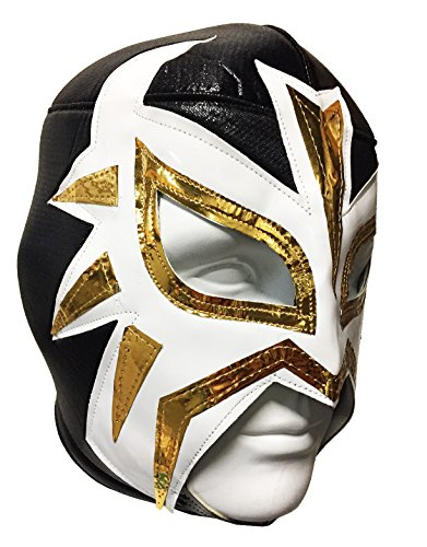 LA MASCARA Adult Lucha Libre Wrestling Mask (pro-fit) Costume Wear - BLACK by Mask Maniac