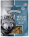 Blue Buffalo Wilderness Trail Treats Wild Bites Grain Free Soft-Moist Dog Treats, Chicken 4-oz bag