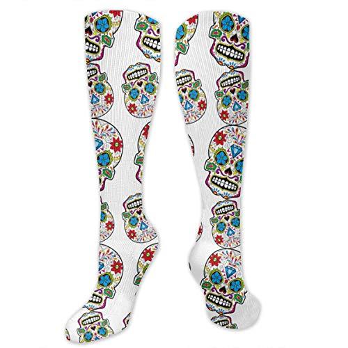 Socks for Women & Men Diamond Mexico Sugar Skull Socks - Boost Performance Blood Circulation & Recovery - 11.8 Inches