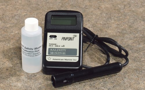 American Marine PINPOINT Salinity Monitor + Calibration Fluid by American Marine