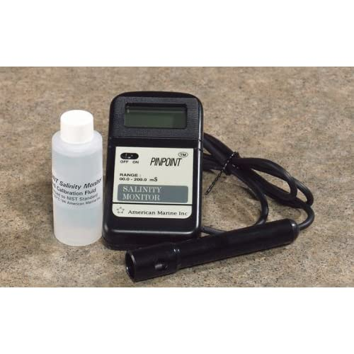 Image of Pet Supplies American Marine PINPOINT Salinity Monitor + Calibration Fluid