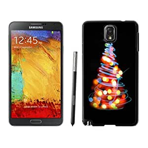Custom and Personalized Cell Phone Case Design with Glowing Lights Christmas Tree Illustration Galaxy NOTE 3 N900P Wallpaper