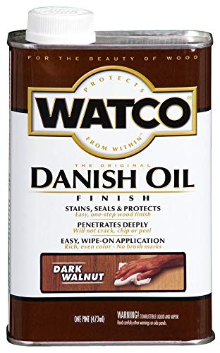 Watco 242221 Danish Oil Wood Finish, Low VOC, Pint, Dark Walnut ()