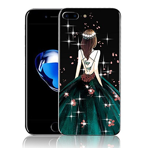 For iPhone 7 Plus Case,iPhone 7 Plus Cover,Vandot Soft TPU Beautiful Dress Sexy Girl iphone 7 Plus TPU case Cover for iPhone 7 5.5 inch cases, iphone 7 Plus TPU (Beautiful Girl With Dress)