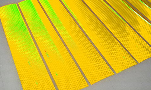 Diamond Reflector - VIP YELLOW 3M DIAMOND REFLECTIVE REFLECTOR Tape 8 SHEETS 2