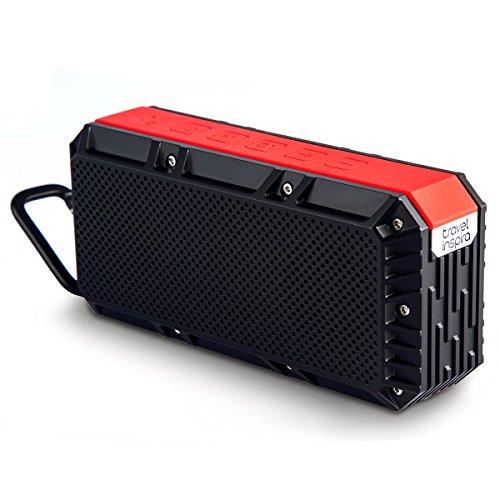 Travel Inspira Waterproof Bluetooth Speaker, 4.0 Portable 10W Wireless Speaker IPX6 - 2200mAh Rechargeable Battery 15 Playing Hours