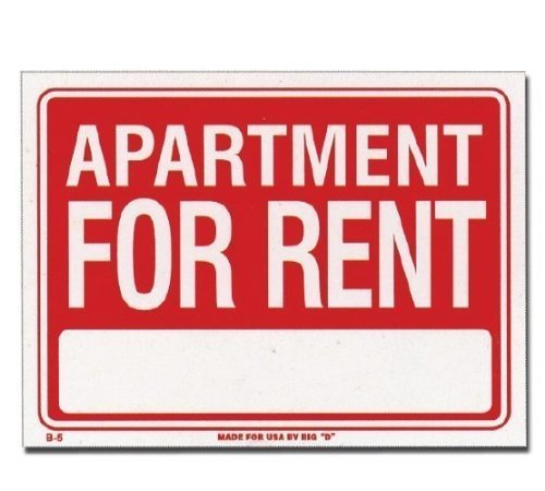 Bazic - Apartment For Rent Sign (12 inch X 16 inch)