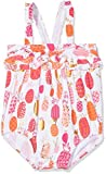 Hatley Baby Girls' Ruffle Swimsuit, Tropical Pineapples, 12-18M