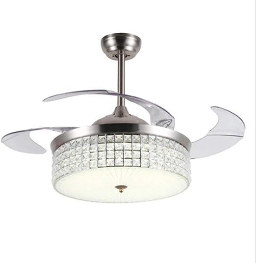 ZHANG * Moderno LED de Cristal Lámpara de Ventilador de Techo ...