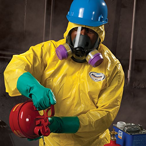 Kleenguard A70 Chemical Spray Protection Coveralls (00687) Suit, Hooded, Booted, Zip Front, Elastic Wrists, Size 4XL, Yellow, 12 Garments/Case by Kimberly-Clark Professional (Image #1)