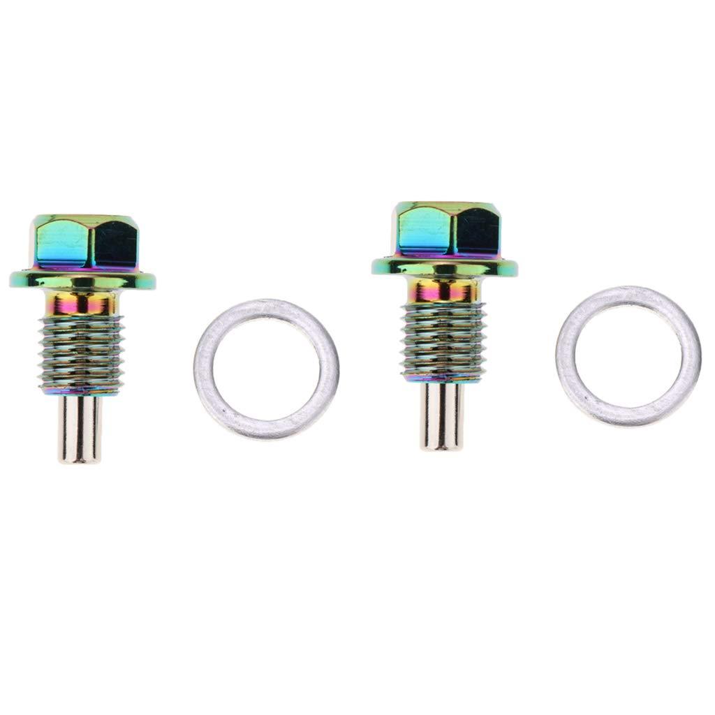 Shiwaki 2er Pack Motor/ölwanne Stecker /Ölablassschraube Magnet/ölablassschraube f/ür Auto
