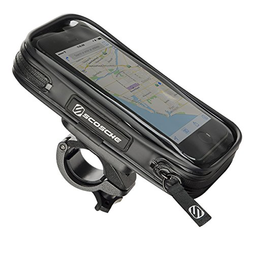 SCOSCHE BM03 HANDLEIT PRO Weather Resistant Bike Mount with Protective Case for Smartphone/Mobile Devices ()