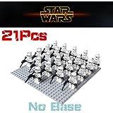 STAR WARS 21 PCS White Clone Trooper Combat Team Minifigures Toy Stormtrooper
