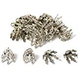 20 Bead Caps Necklace Chain Charm Bails Beading Part