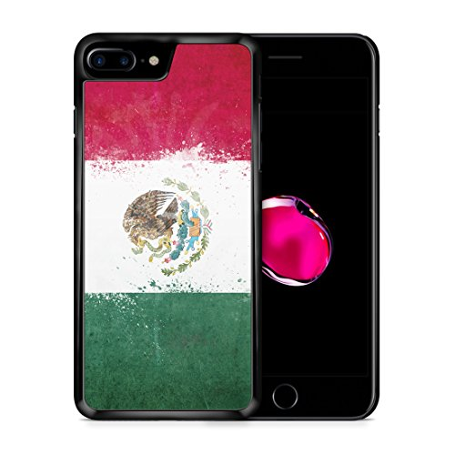 Mexiko Grunge iPhone 7 PLUS SCHWARZ Hardcase Hülle Cover Case Schutz Schale Flagge Flag Mexico