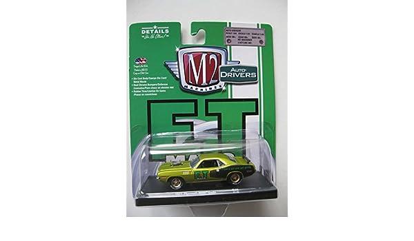 Amazon.com: M2 Machines Auto-Drivers 1:64 R45 1971 Plymouth Hemi Cuda: Toys & Games